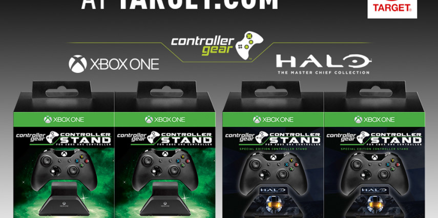 Xbox One & Halo The Master Chief Collection Controller Stand Controller Target Double Pack Controller Gear by Marketing Instincts